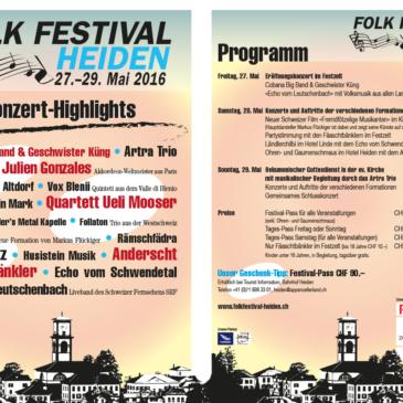 Folk-Festival Heiden TVO Auftritt: Artra-Trio