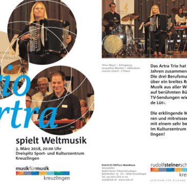 ARTRA TRIO Konzert Kreuzlingen Samstag 03. März 2018