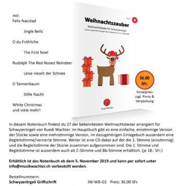 """""""Weihnachtszauber"""" für Schwyzerörgeli"""