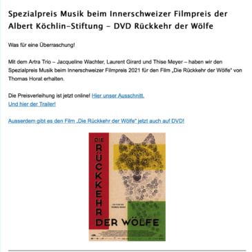 Innerschweizer Spezialpreis Musik 2021: